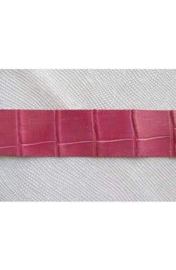 art. 12 GENUINE CROCODILE Louisiana alligator belly var.92 fuchsia