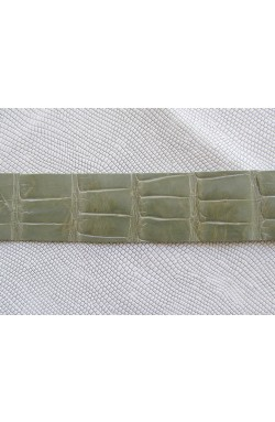 art. 12 COCCODRILLO VERO pancia alligatore louisiana var.13 grigio perlato