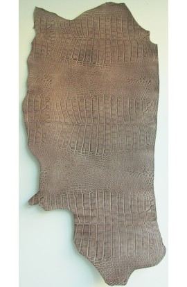 "art. 32 COCCONE LOUISIANA stampa Pancia ""Belly"" su vitello var.41 taupe opaco"