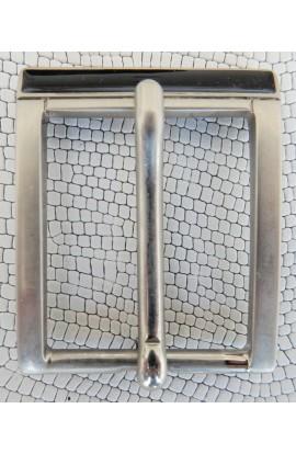 Fibbia Standard R 24 mm.30 nikel satinato+smalto nero (1)