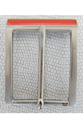 Fibbia Standard R 24 mm.35 nikel satinato+smalto arancio (1)