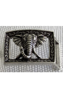 Placca Speciale ELEFANTE con cornice Y 21 mm.25 argento inglese free