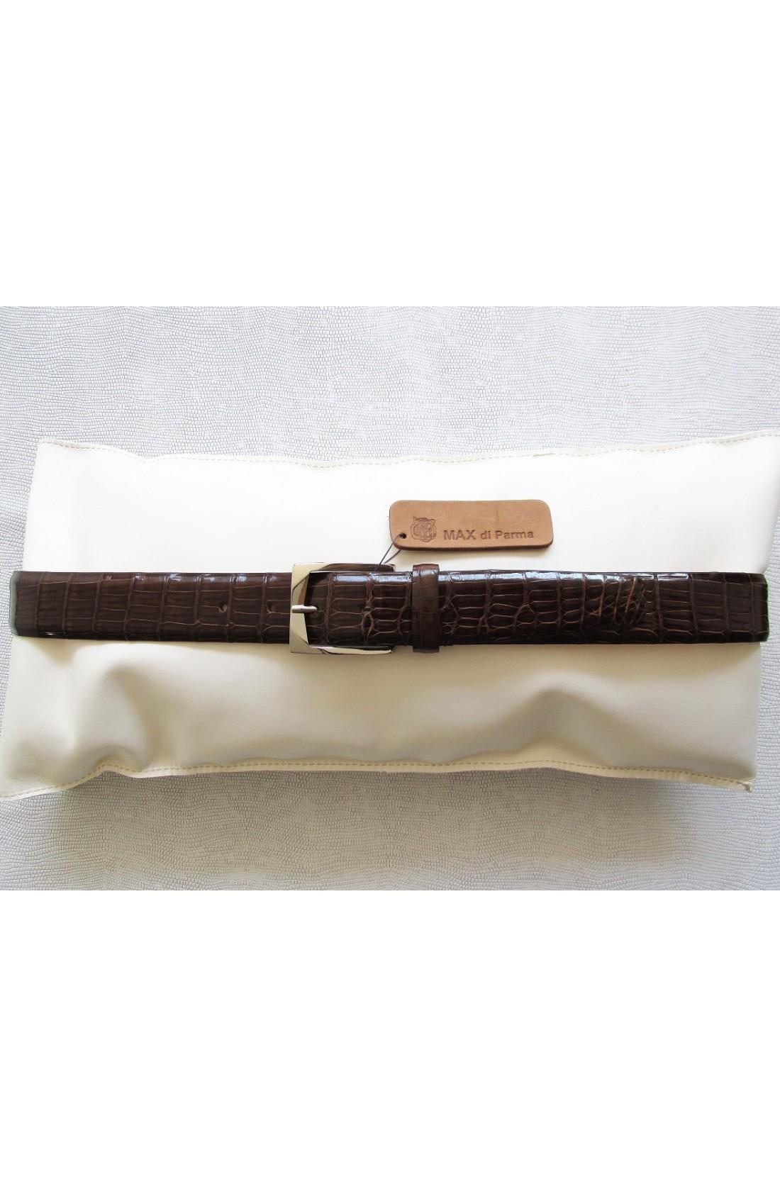 art.143 COCCODRILLO VERO codina alligatore louisiana nero mm.35 var.22 legno fibbia Z 27 mm.35 nikel free (4)