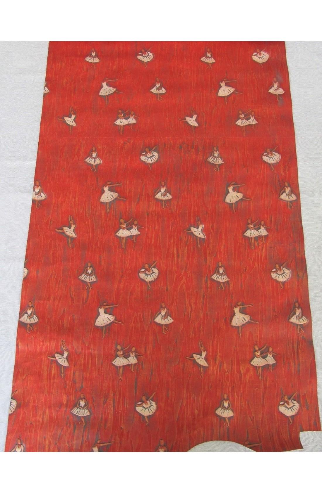 art. 34 BALLERINE stampa su vitello var.71 rosso