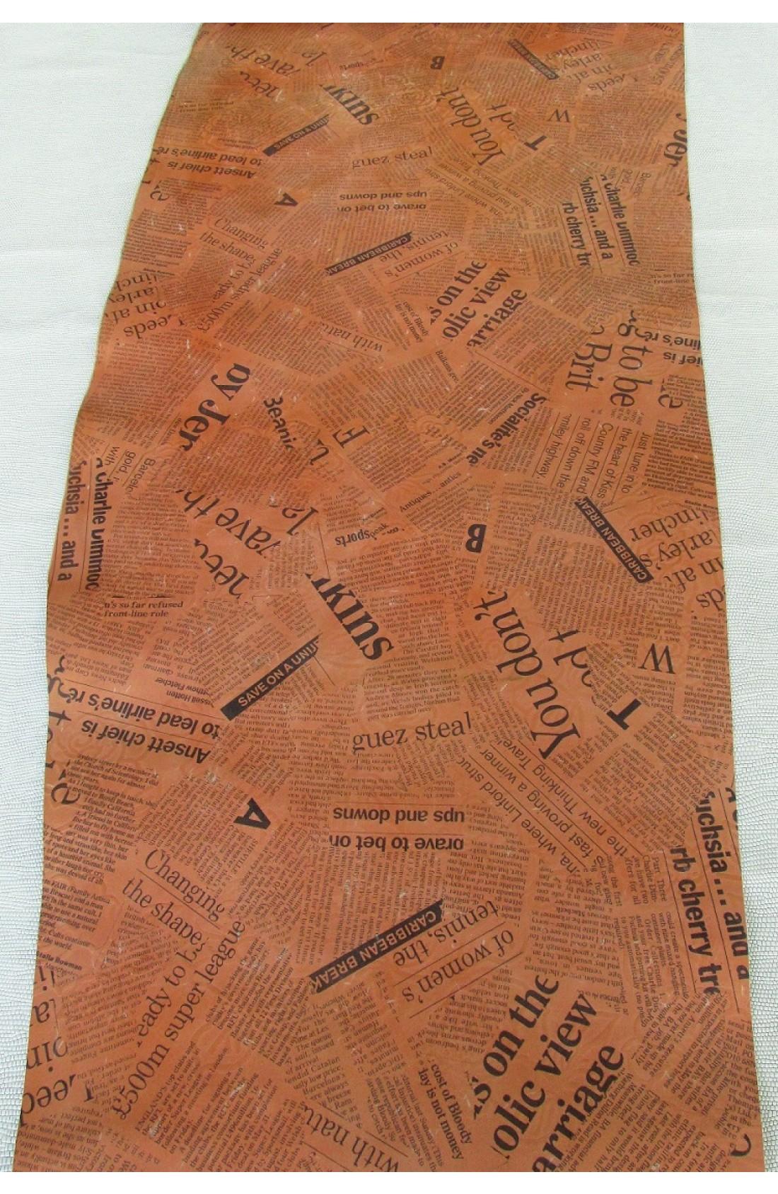 art. 37 DAILY NEWSPAPER stampa su vitello var.81 arancio mattone