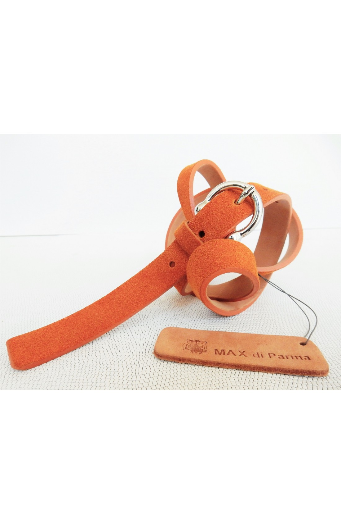 art. 601 SCAMOSCIATO mm.20 var.81 arancio mattone fibbia L 70 mm.20 nikel free (1)