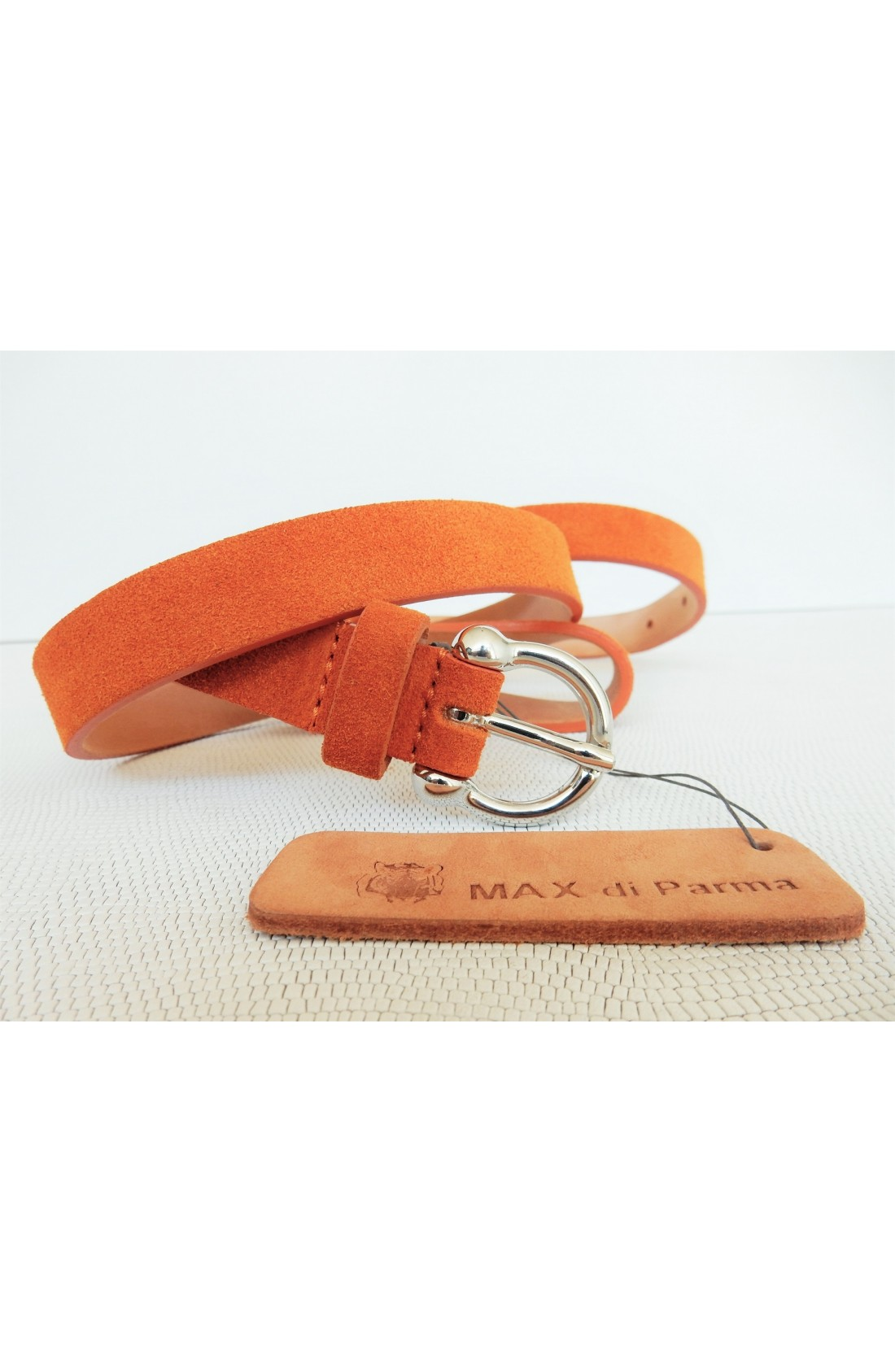 art. 601 SCAMOSCIATO mm.20 var.81 arancio mattone fibbia L 70 mm.20 nikel free (2)
