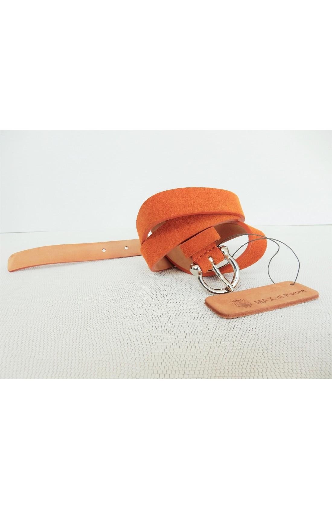 art. 601 SCAMOSCIATO mm.20 var.81 arancio mattone fibbia L 70 mm.20 nikel free (3)