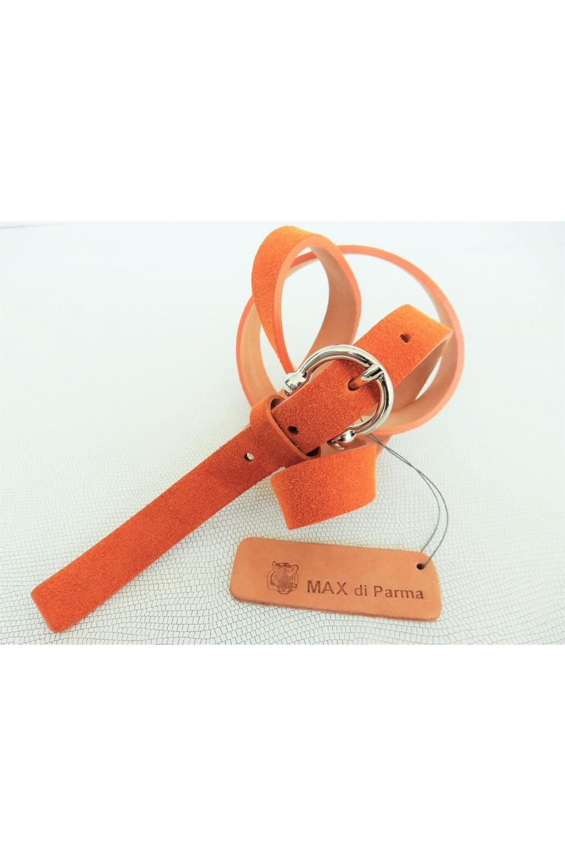 art. 601 SCAMOSCIATO mm.20 var.81 arancio mattone fibbia L 70 mm.20 nikel free (4)