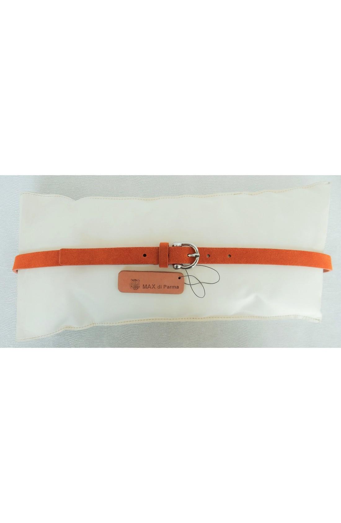 art. 601 SCAMOSCIATO mm.20 var.81 arancio mattone fibbia L 70 mm.20 nikel free (5)