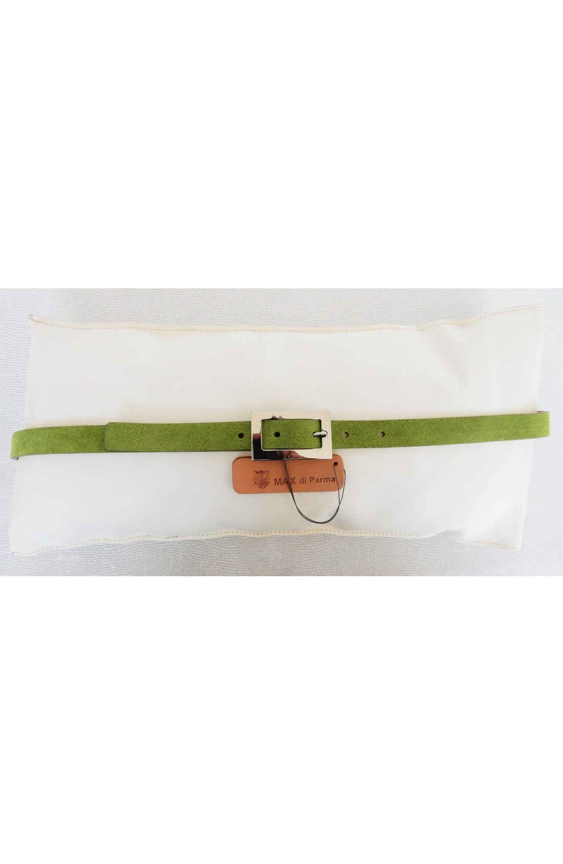 art. 603 SCAMOSCIATO mm.20 var.63 verde aloe fibbia B 919 (4)