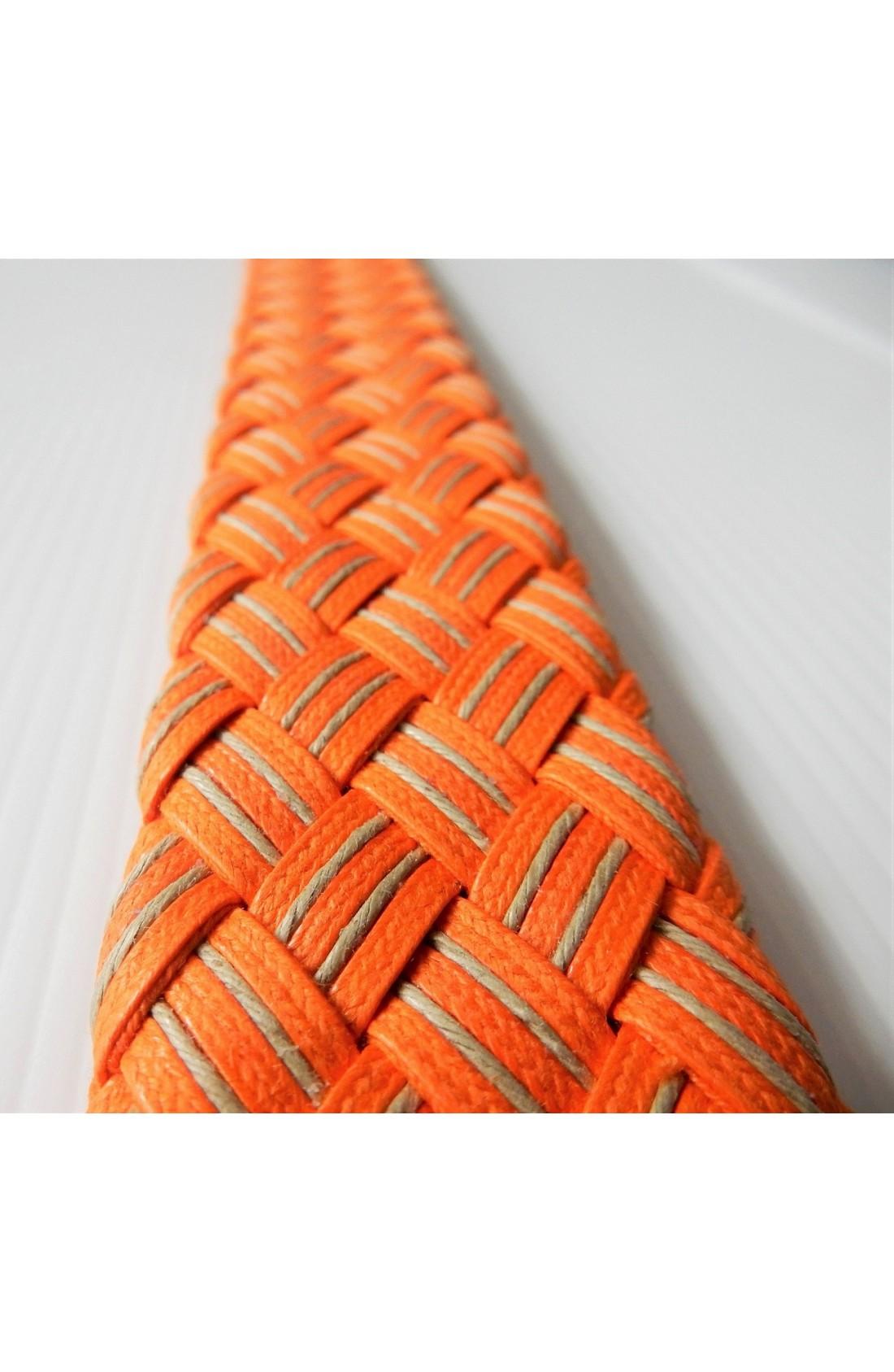 art. 99 INTRECCIO DUE RIGHE mm.40 col. arancione - taupe (2)
