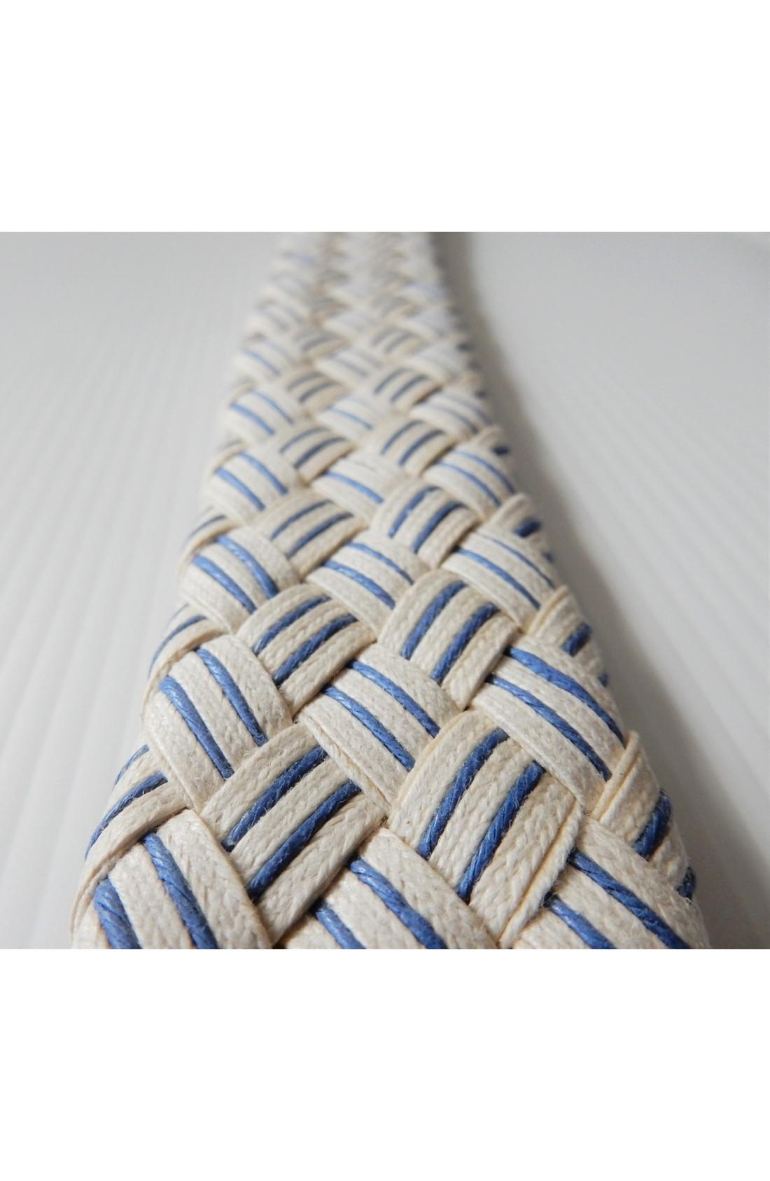 art. 99 INTRECCIO DUE RIGHE mm.40 col. bianco - blu (2)