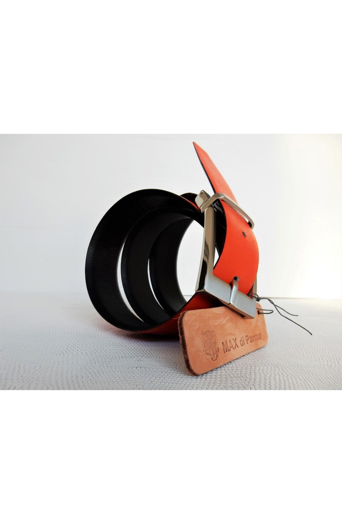 art. a476 SAFFIANO mm.35 var.1 nero + var.8 arancione fibbia Y 10 (4)