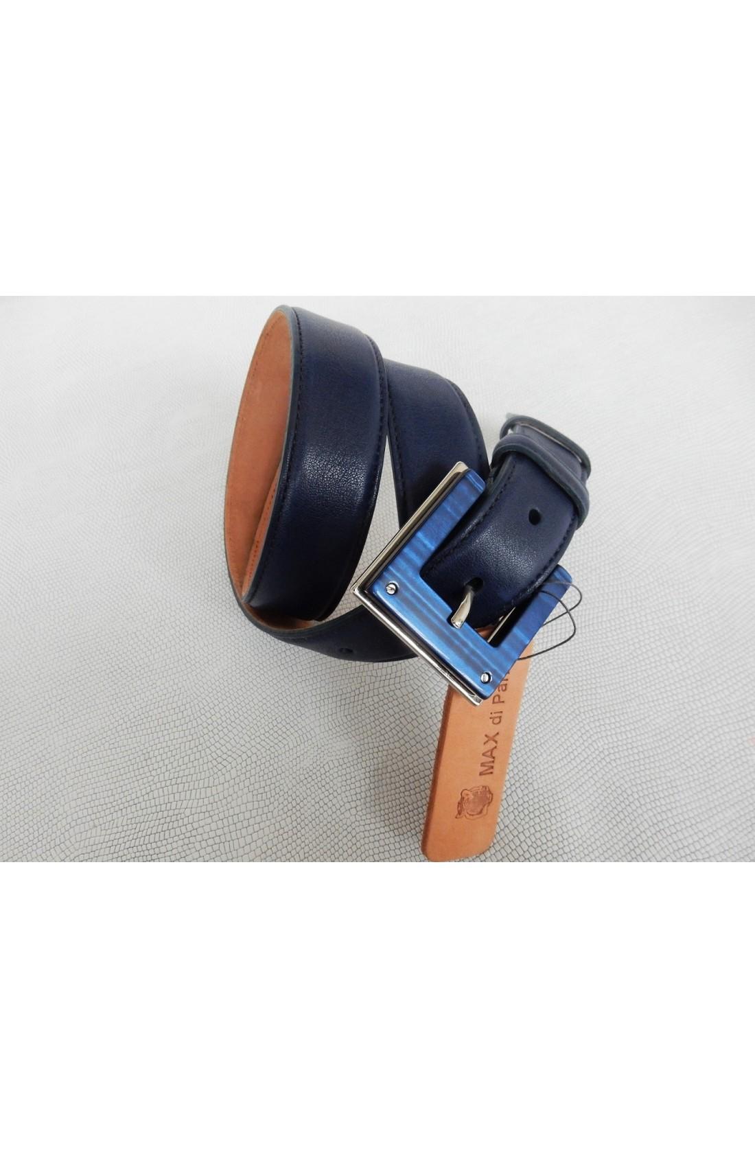 CINTURA DONNA art.484 NAPPA CALF mm.30 var.5 blu se Fibbia Speciale I 128 mm.30 (foto 1) +€. 3 (1)