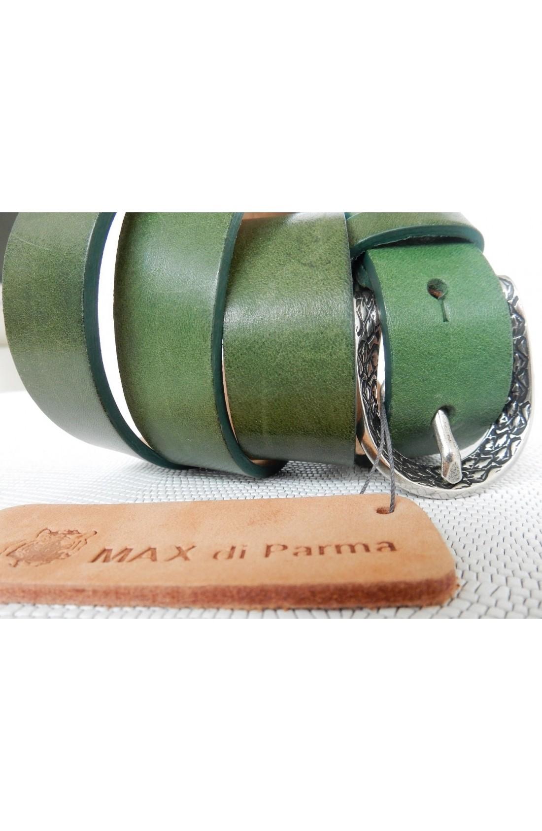 CINTURA DONNA art.493 KANSAS su spalle toro mm.25 var.62 verde avocado fibbia F 31 mm.25 argento vecchio (1)