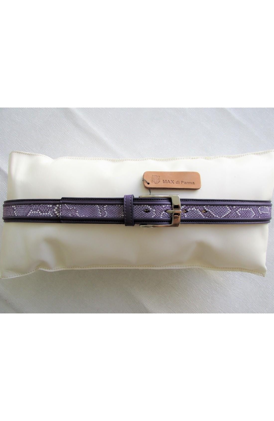 CINTURA SPECIALI art.401 MOUSSE mm.35 var.9 viola +PAILLET BOA livrea bianco (foto 1) fib. G 55