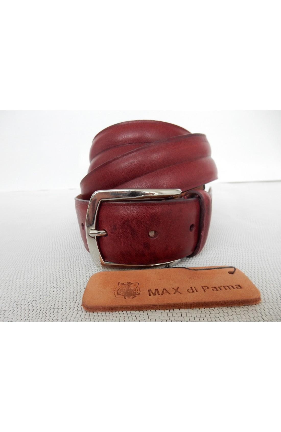 CINTURA UNISEX art.497 KANSAS su spalle toro mm.35 var.7 rosso inglese (con scanalatura interna) fib.I 193 (1)