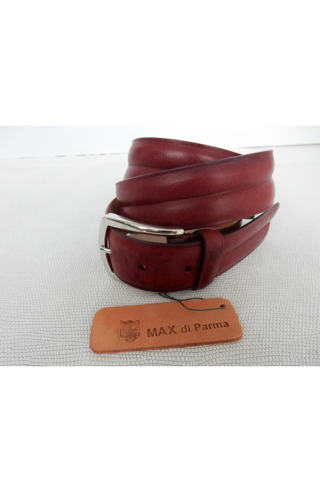 CINTURA UNISEX art.497 KANSAS su spalle toro mm.35 var.7 rosso inglese (con scanalatura interna) fib.I 193 (2)