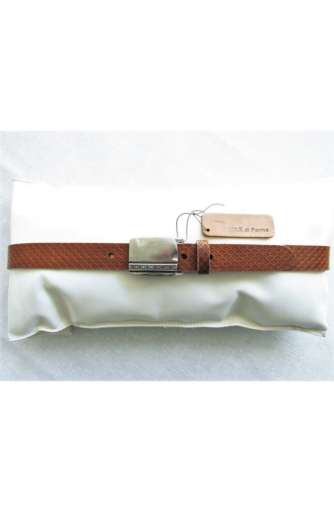 CINTURA UNISEX art.501 LAGOS INTAGLIATO mm.30 var.4 cognac Placca Speciale E19 (4)