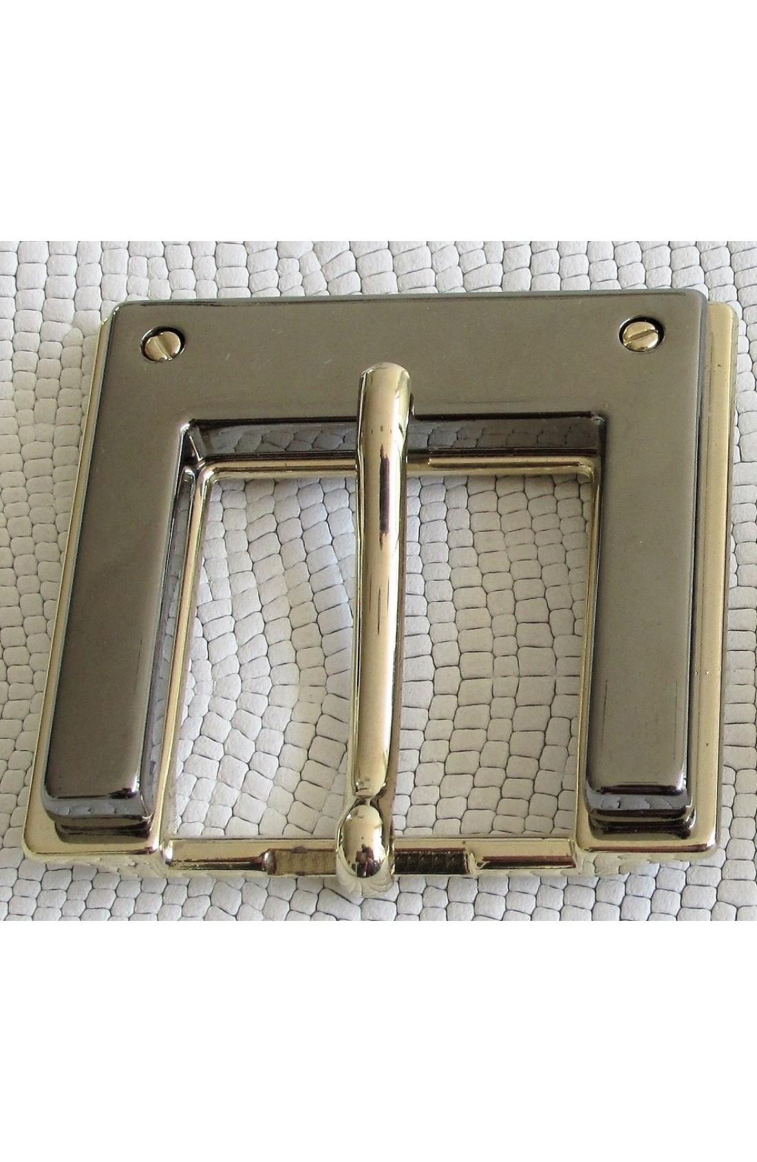 Fibbia Speciale I 128 mm.30 oro chiaro free con 2 viti +inserto canna fucile