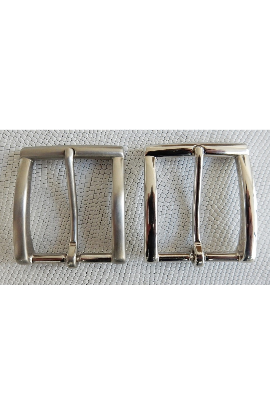 Fibbia Standard I 113 mm.35 nikel e nikel satinato (1)