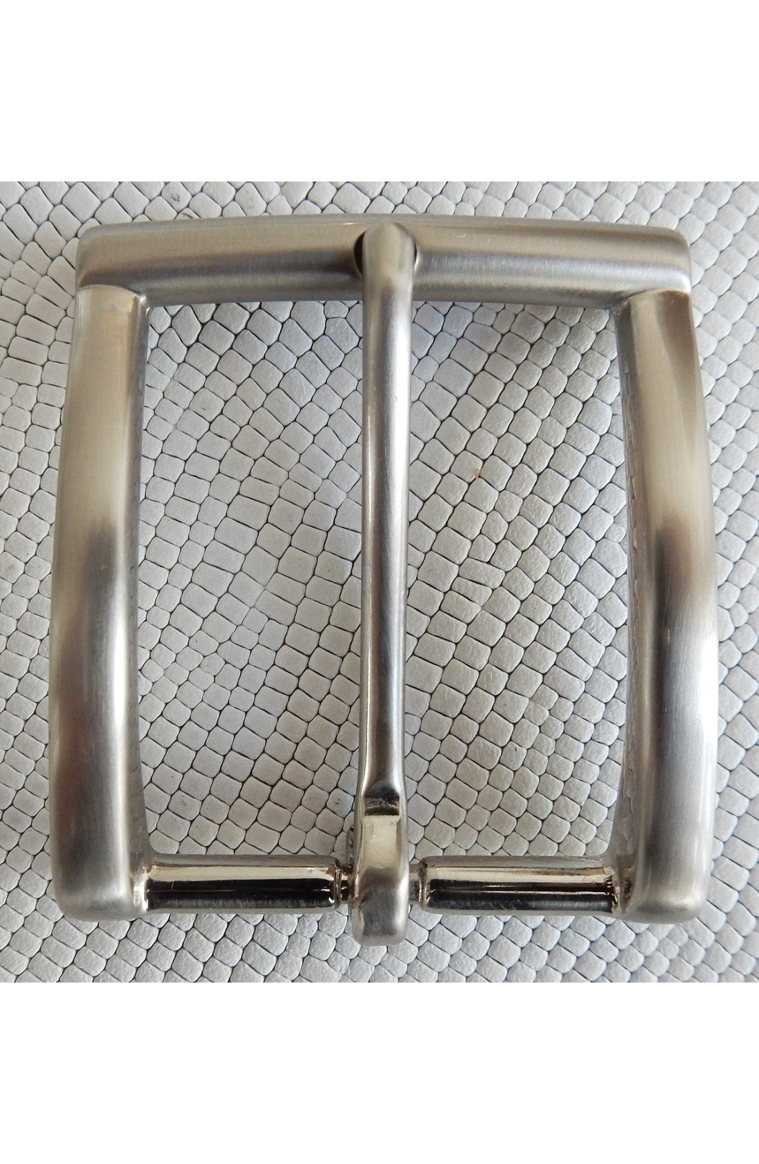 Fibbia Standard I 113 mm.35 nikel satinato