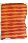 """art. 31 COCCO CROCK stampa Dorso """"Hornback"""" su vitello var.81 arancio mattone"""