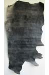 """art. 32 COCCONE LOUISIANA stampa Pancia """"Belly"""" su vitello var.11 antracite trattato vernice semilucido"""