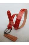 CINTURA UNISEX art.313 COCCO CROCK stampa su vitello mm.30 var.71 rosso fibbia F 23 mm (2)